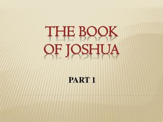 The Book  of Joshua