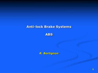 Anti-lock Brake Systems ABS
