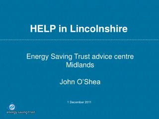 HELP in Lincolnshire