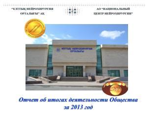 Отчет об итогах деятельности Общества  за 2013 год