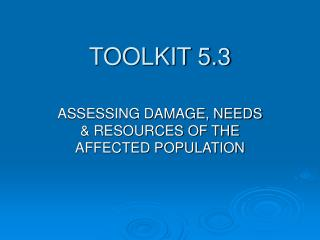 TOOLKIT 5.3