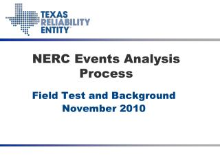 NERC Events Analysis Process