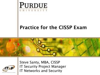 Practice for the CISSP Exam