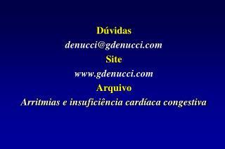 Dúvidas  denucci@gdenucci Site  gdenucci Arquivo