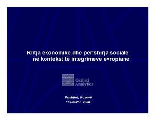 Rritja ekonomike dhe përfshirja sociale në kontekst të integrimeve evropiane