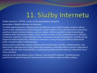 11. Služby Internetu