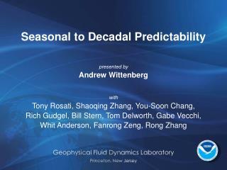 Seasonal to Decadal Predictability
