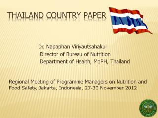 Thailand Country Paper