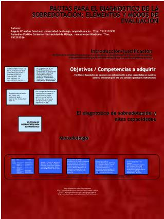 PAUTAS PARA EL DIAGNÓSTICO DE LA SOBREDOTACIÓN: ELEMENTOS Y MODOS DE EVALUACIÓN