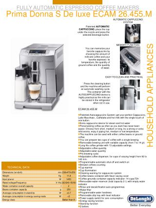 FULLY AUTOMATIC ESPRESSO COFFEE MAKERS