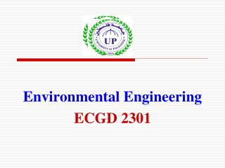 Environmental Engineering ECGD 2301