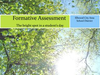 Formative Assessment         The bright spot in a student's day