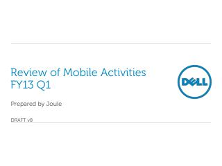 Review of Mobile Activities  FY13 Q1
