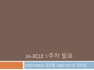 Ja-ecle  1 ?? ??