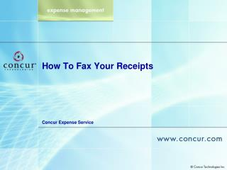 How To Fax Your Receipts