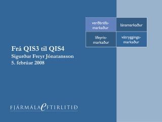Frá QIS3 til QIS4 Sigurður Freyr Jónatansson 5. febrúar 2008