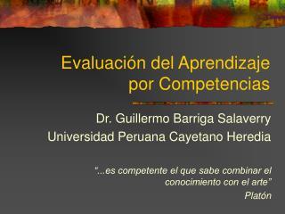 Evaluación del Aprendizaje por Competencias