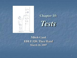 Chapter 10: Tests