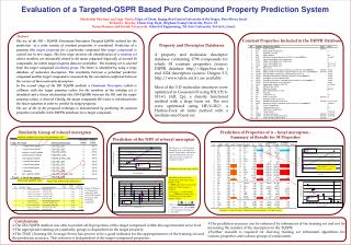 Evaluation of a Targeted-QSPR Based Pure Compound Property Prediction System