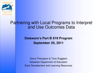 Partnering with Local Programs to Interpret and Use Outcomes Data