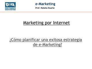 ¿Cómo planificar una exitosa estrategia de e-Marketing?