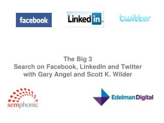 The Big 3 Search on Facebook, LinkedIn and Twitter with Gary Angel and Scott K. Wilder