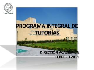 PROGRAMA INTEGRAL DE TUTORÍAS