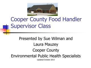 Cooper County Food Handler Supervisor Class