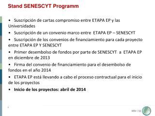 Stand SENESCYT  Programm