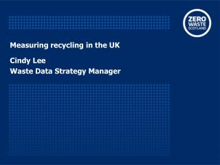 Measuring recycling in the UK