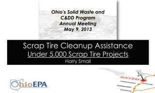 Ohio's Solid Waste and C&DD Program                            Annual Meeting May 9, 2013