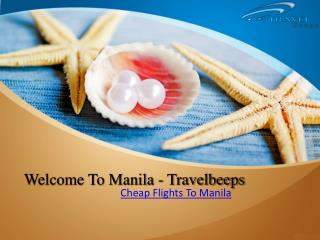 Travelbeeps- Cheap flights to Manila