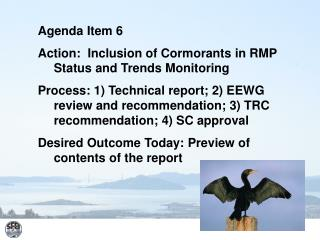 Agenda Item 6 Action:  Inclusion of Cormorants in RMP Status and Trends Monitoring