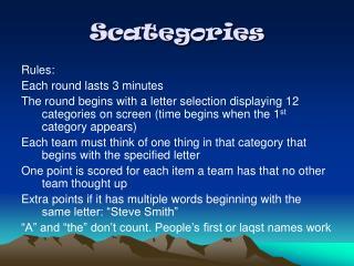 Scategories