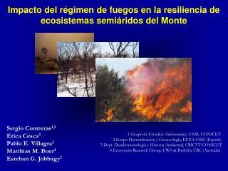 Impacto del régimen de fuegos en la resiliencia de ecosistemas semiáridos del Monte