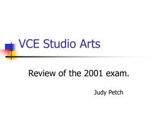 VCE Studio Arts