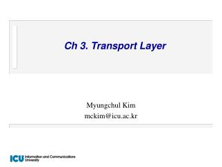 Ch 3. Transport Layer