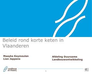 Beleid rond korte keten in Vlaanderen