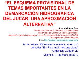 Gregorio López Sanz Facultad de Ciencias Económicas y Empresariales