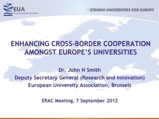 ENHANCING CROSS-BORDER COOPERATION AMONGST EUROPE'S UNIVERSITIES