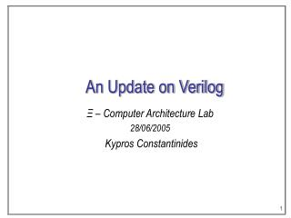 An Update on Verilog
