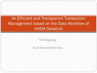 An Efficient and Transparent Transaction Management based on the Data Workflow of HVEM DataGrid