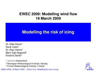 EWEC 2009: Modelling wind flow  19 March 2009 qua