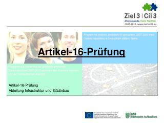 Artikel-16-Prüfung