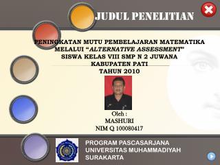 PROGRAM PASCASARJANA UNIVERSITAS MUHAMMADIYAH SURAKARTA