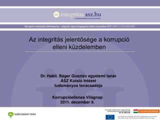 Az integritás jelentősége a korrupció elleni küzdelemben