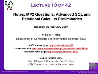 Lecture 10 of 42