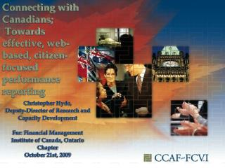 Connecting with Canadians;  Towards effective, web-based, citizen-focused performance reporting