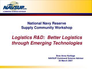 National Navy Reserve Supply Community Workshop