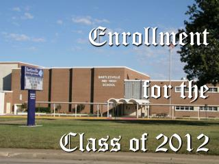 Enrollment  for the  Class of 2012